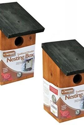 2-X-WOODEN-NESTING-NEST-BOX-BIRD-HOUSE-SMALL-BIRDS-BLUE-TIT-ROBIN-SPARROW-0