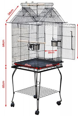 Beyondfashion-Large-Pet-Bird-Budgie-Canary-Aviary-Parrot-Cage-African-Grey-Cockatiels-African-Macaw-Parakeet-Budgie-Open-Top-Perches-Stand-Cage-0