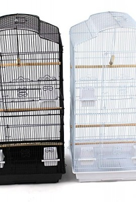 Large-Metal-Bird-Cage-for-Budgie-Cockatiel-Lovebirds-etc-Black-0